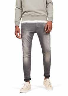 G Star Raw Denim G-Star Men's Defend Super Slim-Fit Jean in Slander Grey Superstretch  30