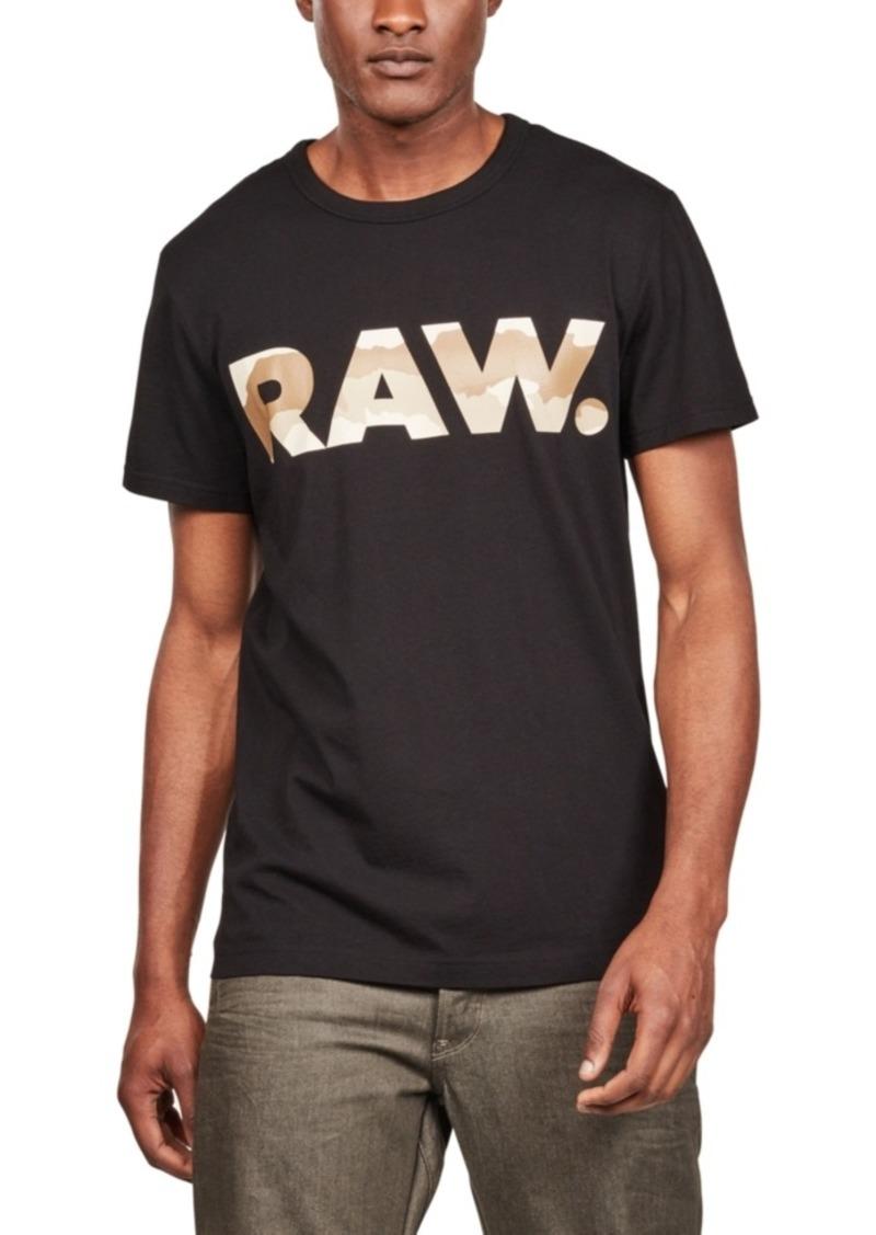 G Star Raw Denim G-Star Raw Men's Desert Camouflage Logo T-Shirt