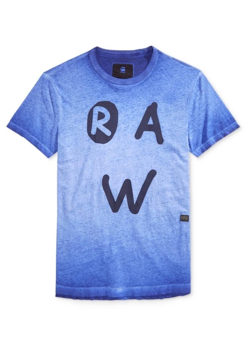 8b069632292 G Star Raw Denim G-Star Raw Men's Eshje Ombre Graphic-Print Logo T ...