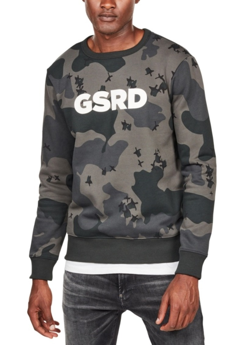 G Star Raw Denim G-Star Raw Men's Ferru Camo Sweatshirt, Created For Macy's