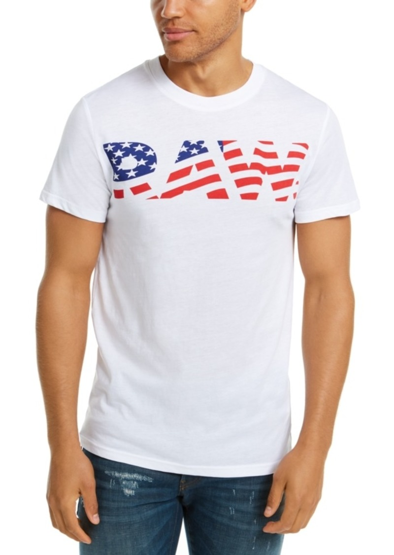 G Star Raw Denim G-Star Raw Men's Flag Logo T-Shirt, Created For Macy's