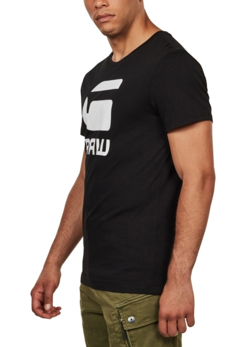 G Star Raw Denim G-Star Raw Men's Flocked Hamburger T-Shirt