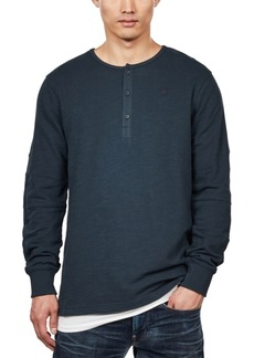 G Star Raw Denim G-Star Raw Men's Four-Button Henley, Created For Macy's