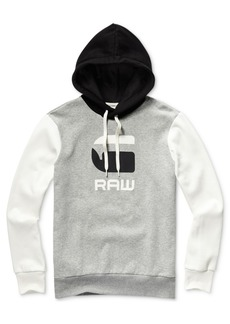 G Star Raw Denim G-Star Raw Men's Graphic 19 Regular-Fit Colorblocked Logo Hoodie