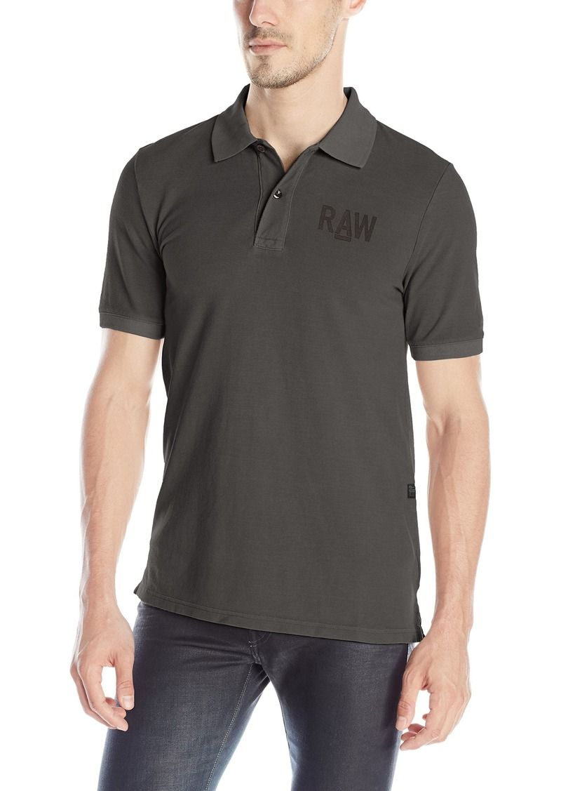 G Star Raw Denim G-Star Raw Men s Hav Shortsleeve Polo Shirt In Piqe Overdye d7660220ef