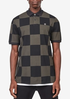 G Star Raw Denim G-Star Raw Men's Holliday Checker Print Polo