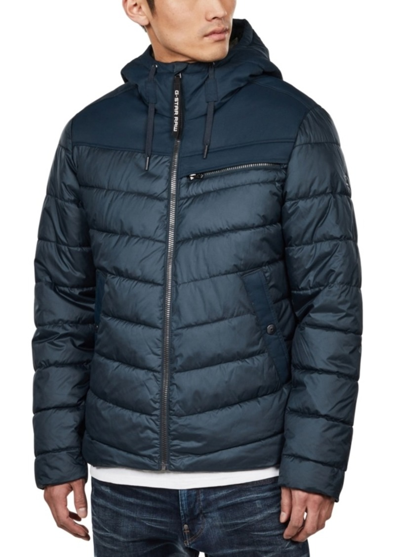 G Star Raw Denim G-Star Raw Men's Hooded Puffer Jacket, Created For Macy's