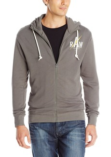 G Star Raw Denim G-Star Raw Men's Hujan Hooded Sweatshirt GS Grey