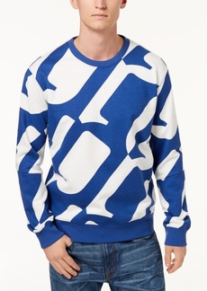 G Star Raw Denim G-Star Raw Men's Hyce Allover Oversized Logo Sweatshirt, Created for Macy's