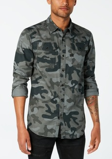 G Star Raw Denim G-Star Raw Men's Landoh Camouflage-Print Shirt, Created for Macy's