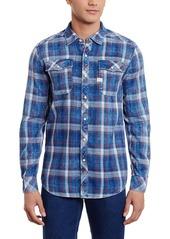 G Star Raw Denim G-Star Raw Men's Landoh Indigo Volt Flannel Check Shirt Antic Red
