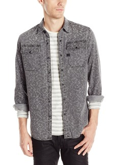 G Star Raw Denim G-Star Raw Men's Landoh Long Sleeve Button-Up Shirt in Grey Warren Denim Medium Aged AO
