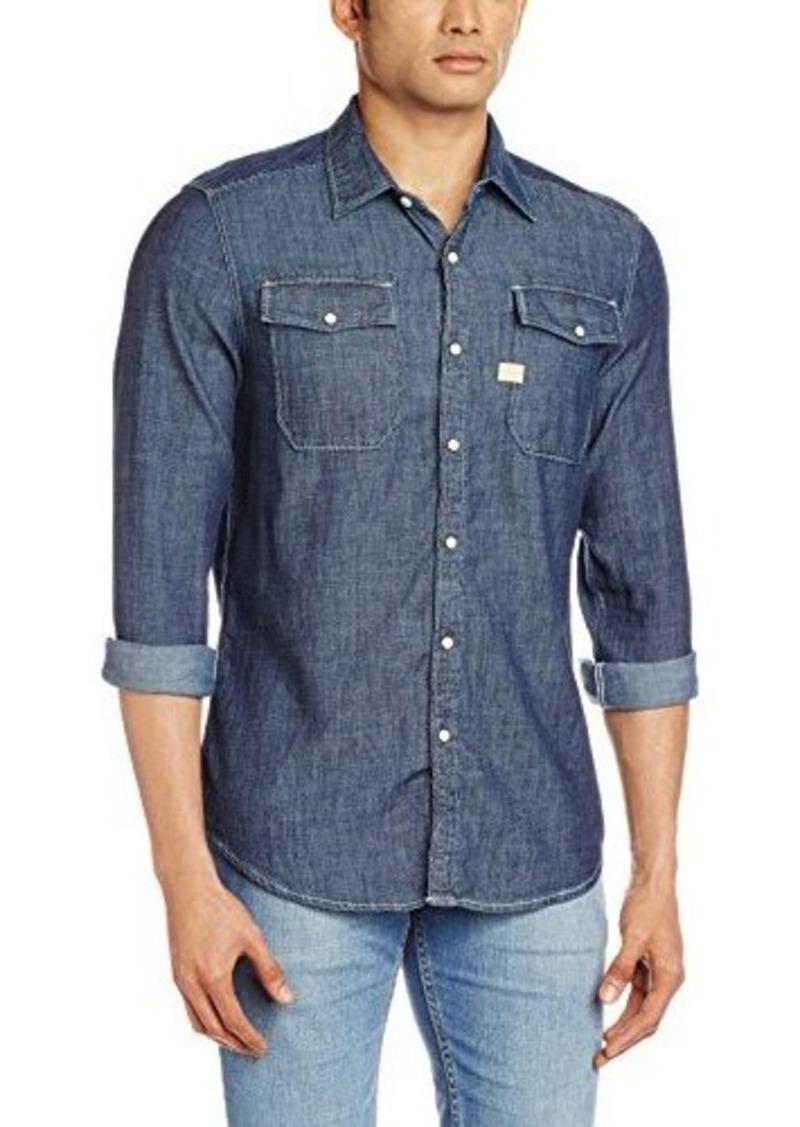 9d24028b86a G Star Raw Denim G-Star Raw Men s Landoh Long Sleeve Shirt Blue ...