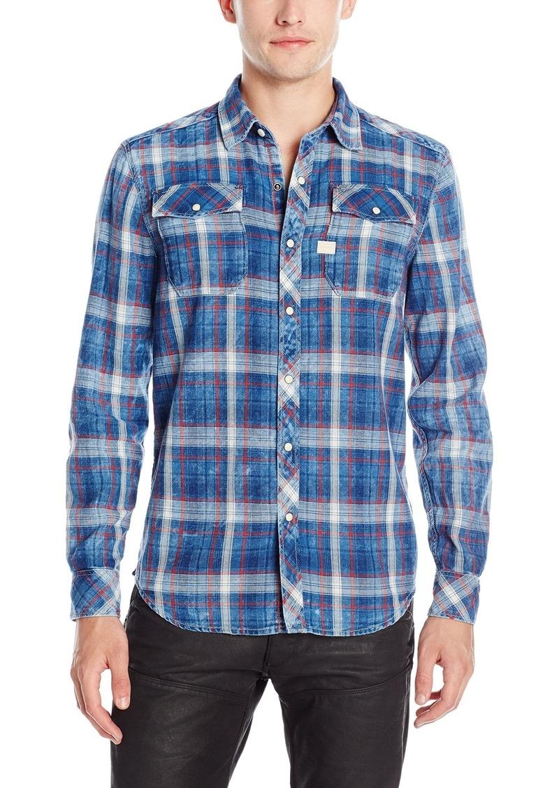 G Star Raw Denim G-Star Raw Men's Landoh Volt Flannel Shirt Indigo/Antic Red Check