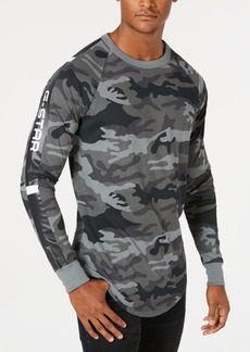 G Star Raw Denim G-Star Raw Men's Long-Sleeve Camo T-Shirt, Created for Macy's