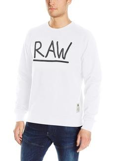 G Star Raw Denim G-Star Raw Men's Manes Raglan Zip All Over Scribble Long Sleeve Hoody  Small