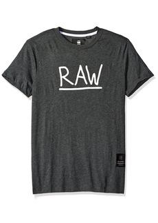 G Star Raw Denim G-Star Raw Men's Manes Short Sleeve Logo T-shirtRavenHeather