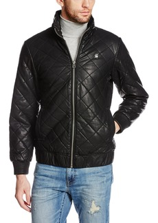G Star Raw Denim G-Star Raw Men's Meefic Quilted Faux Leather Overshirt Jacket