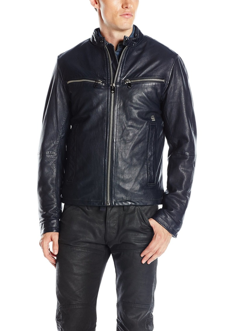 G Star Raw Denim G-Star Raw Men's Mower Leather Jacket