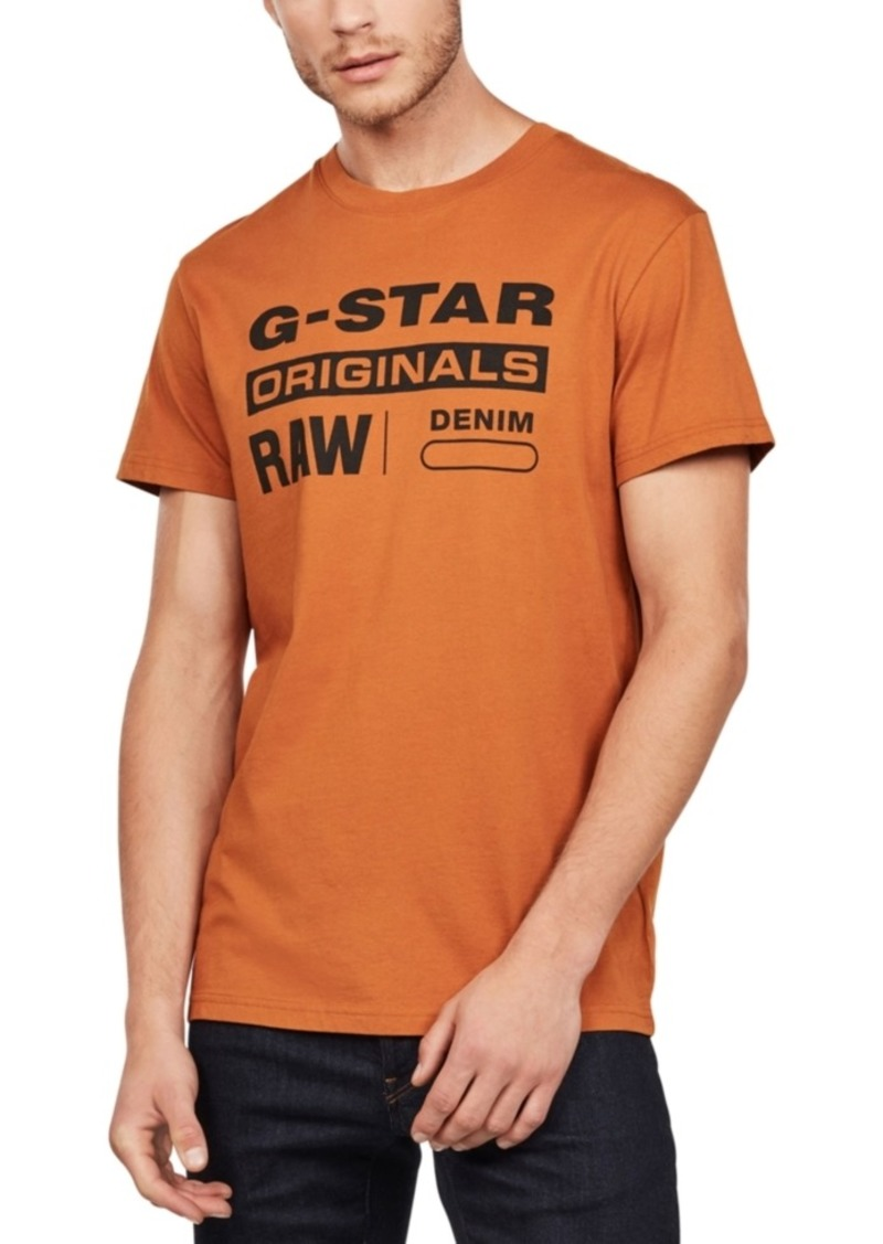 G Star Raw Denim G-Star Raw Men's Original Logo T-Shirt, Created For Macy's