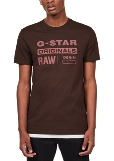 G Star Raw Denim G-Star Raw Men's Originals Logo T-Shirt, Created For Macy's