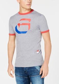 G Star Raw Denim G-Star Raw Men's Oversized G Logo Graphic Ringer T-Shirt