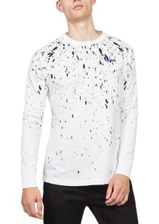 G Star Raw Denim G-Star Raw Men's Paint Splatter Long-Sleeve T-Shirt, Created For Macy's