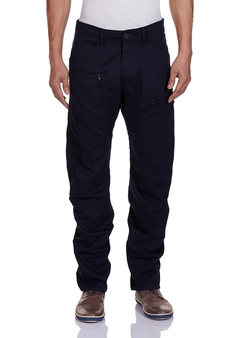 c41737d3fa4 G-Star Raw Men's Powel 3D Tapered Fit Pant In Lt Wt Left Hand Twill  Mazarine Blue 38x32