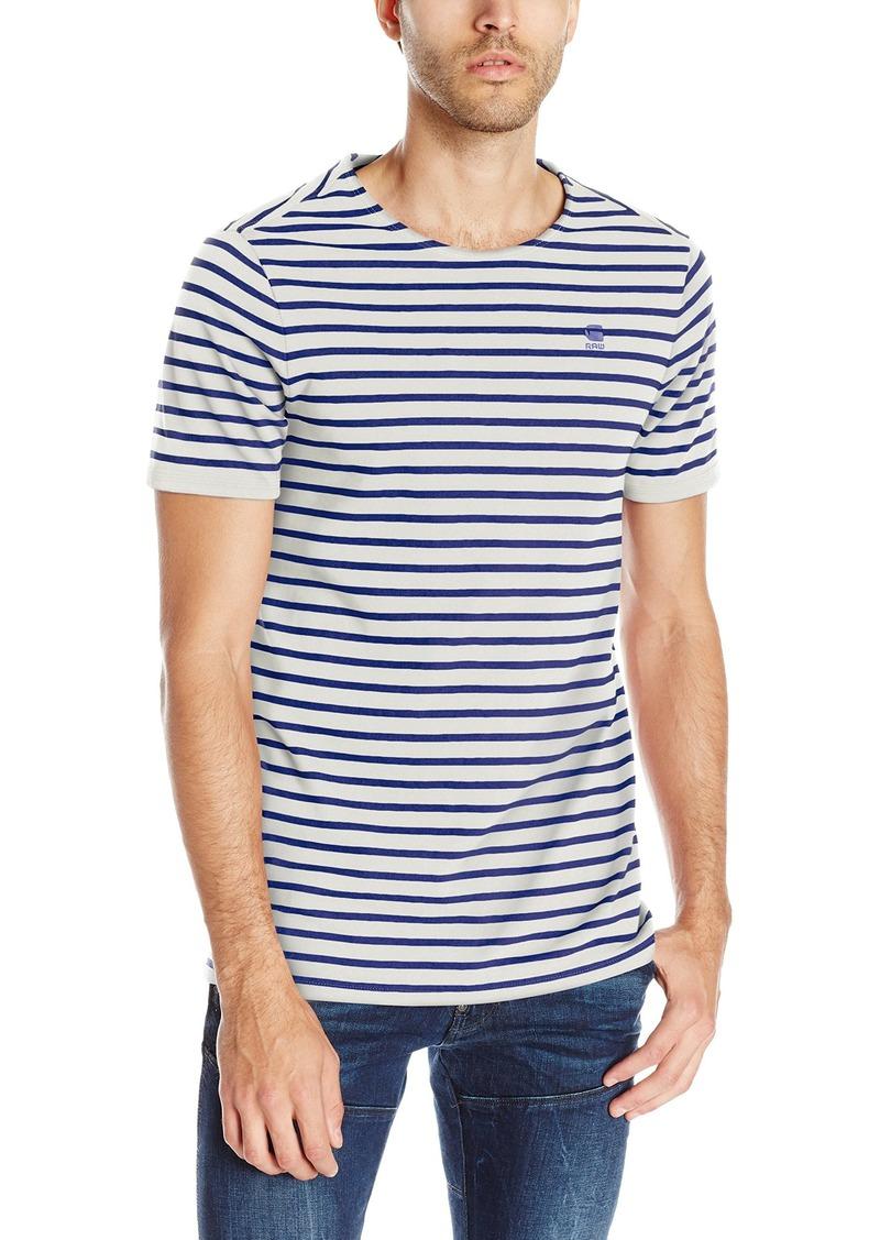 f9a29fe3e2 G Star Raw Denim G-Star Raw Men's Prebase Stripe Short Sleeve T-Shirt
