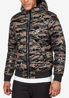 G Star Raw Denim G-Star Raw Men's Quilted Hooded Camo Jacket
