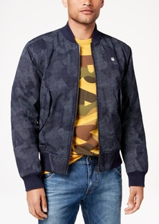 G Star Raw Denim G-Star Raw Men's Rackam Pixelated Camouflage-Print Bomber Jacket, Created for Macy's