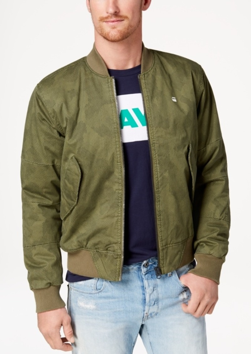 best selection of 2019 new product shop for newest G-Star Raw Men's Rackam Pixelated Camouflage-Print Bomber Jacket, Created  for Macy's