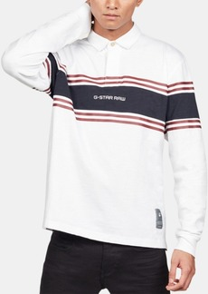 G Star Raw Denim G-Star Raw Men's Regular-Fit Colorblocked Stripe Rugby Polo, Created for Macy's
