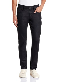 G Star Raw Denim G-Star Men's Revend Super Slim Fit Pant in Black Print Stretch Denim 3D Dark Aged 3332