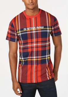 G Star Raw Denim G-Star Raw Men's Royal Tartan T-Shirt, created for Macy's