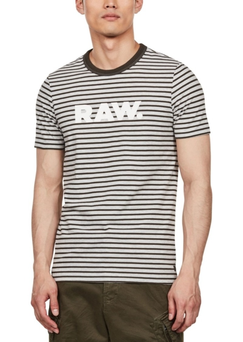 G Star Raw Denim G-Star Raw Men's Striped Logo T-Shirt, Created For Macy's