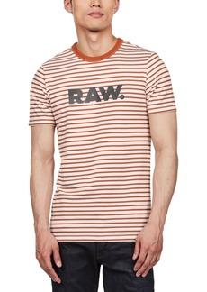 G Star Raw Denim G-Star Raw Men's Striped Logo T-Shirt, Created For Macy's