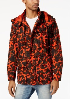 G Star Raw Denim G-Star Raw Men's Submarine Camouflage-Print Hooded Jacket