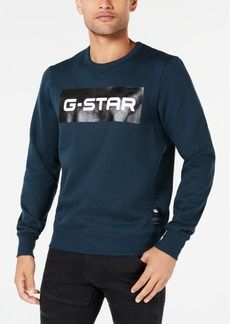 G Star Raw Denim G-Star Raw Men's Swando Block Logo Crew-Neck Fleece