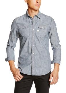 G Star Raw Denim G-Star Raw Men's Tacoma Deconstructed Ticking Stripe Shirt L/s