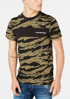 G Star Raw Denim G-Star Raw Men's Tiger Camo T-Shirt, Created for Macy's