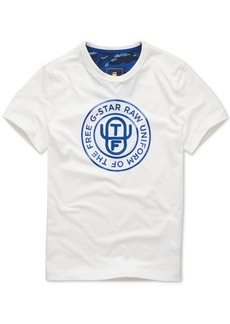 G Star Raw Denim G-Star Raw Men's Uniform Of The Free Logo Graphic T-Shirt