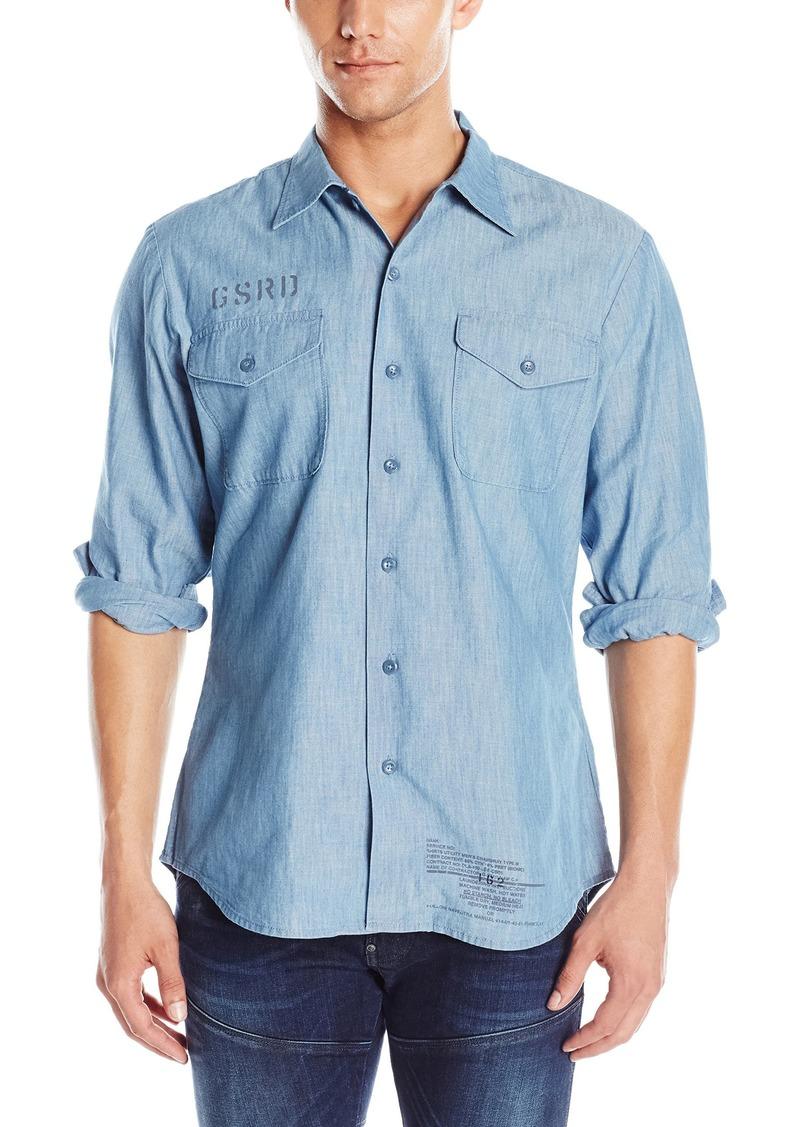 G Star Raw Denim G-Star Raw Men's Utility Fridom Chambray Long Sleeve Button Down Shirt