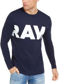 G Star Raw Denim G-Star Raw Men's Vilsi Logo Long Sleeve T-Shirt
