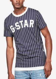 4b2c9f4d69 G Star Raw Denim G-Star Raw Men's Wabash Dot-Stripe Logo Graphic Baseball