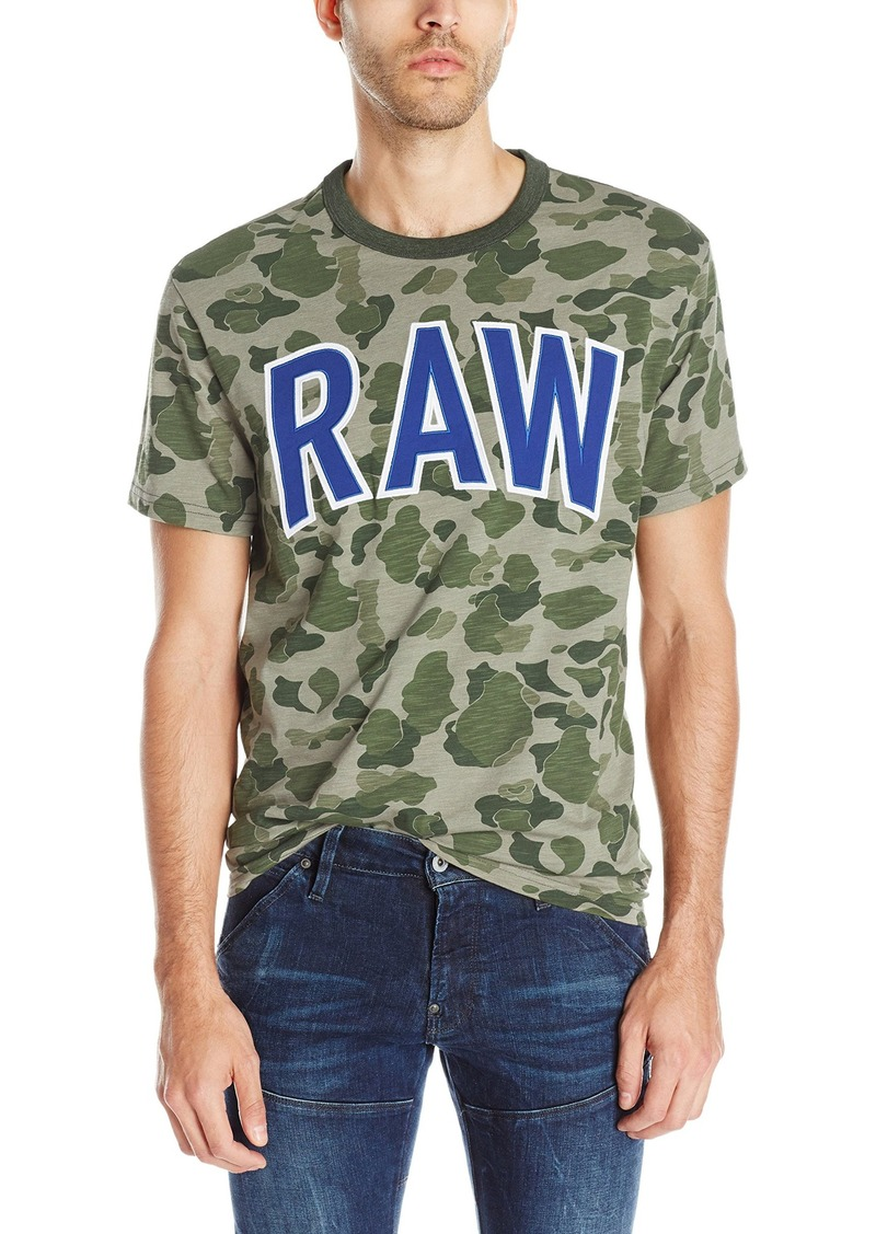 G Star Raw Denim G-Star Raw Men's Warth Camo Short Sleeve T-Shirt