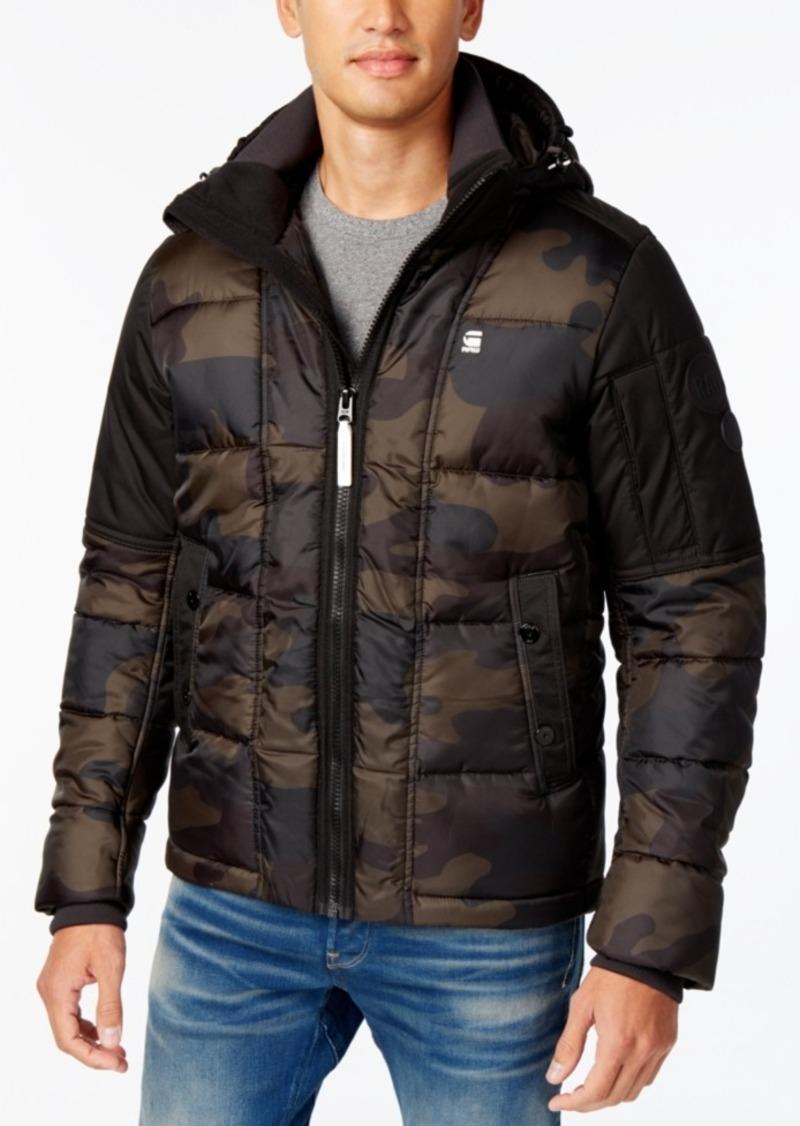 304544e80 G-Star Raw Men's Whistler Hooded Camo Jacket