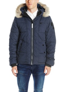 G Star Raw Denim G-Star Raw Men's Whistler Hooded Faux Fur Jacket