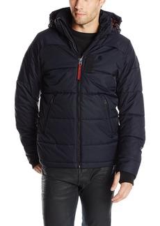 G Star Raw Denim G-Star Raw Men's Whistler Hooded Jacket In Altitude Herringbone Nylon Mazarine Blue