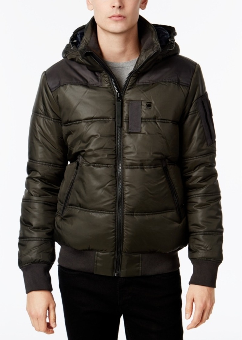 e2ca77a76a3 G Star Raw Denim G-Star Raw Men's Whistler Hooded Quilted Jacket ...